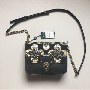NWT Ralph Lauren Black Millbrook Chain Crossbody